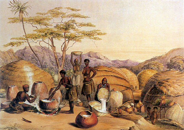 Beer brewing has traditionally always been a woman's job at the Zulus ever since the Goddess Mbaba Mwana Waresa introduced this craft to humans.