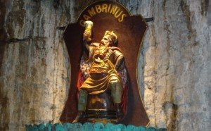 Gambrinus is honored all over the world by bars that wear his name.