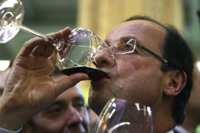 The French president Francois Hollande refused to host a state dinner without his beloved wine.