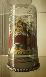 A bohemian glass from 1616, similar to the tankard of salvation.