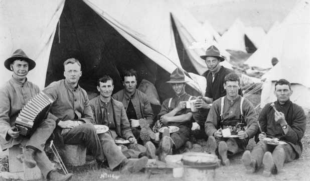 Soldiers from New Zealand having a well deserved break during World War I. They would achieve their biggest victory by saving their country from abstinance in 1919.