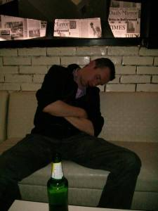 Alcohol can make one quite sleepy.