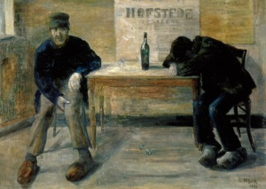 """The painting """"The Drunkards"""" by James Ensor"""