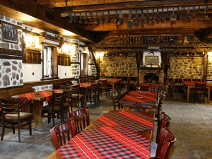 A typical Bulgarian tavern.